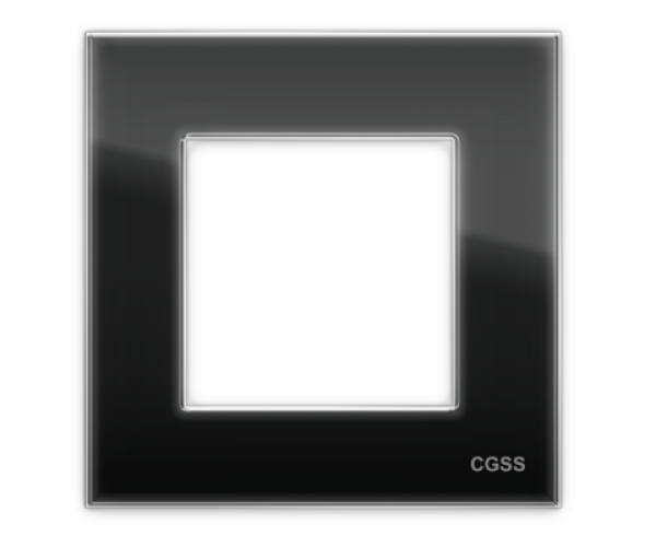 "Рамка на 1 пост стеклянная черная ""Эстетика"""