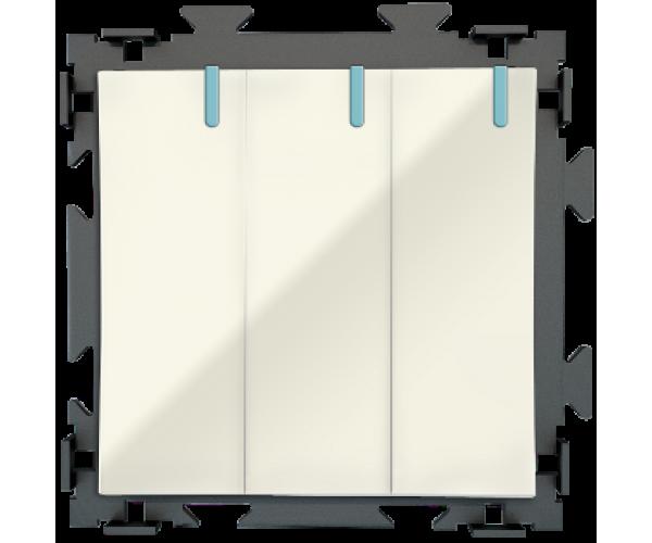 Трех клавишный бежевый выключатель CGSS «Практика»