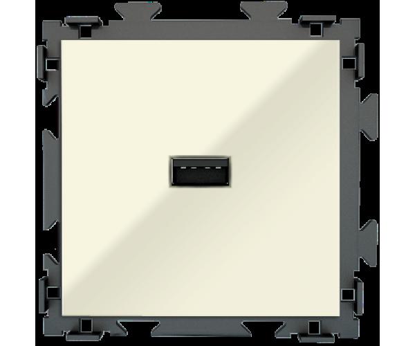 """Розетка USB бежевая CGSS """"Практика"""""""
