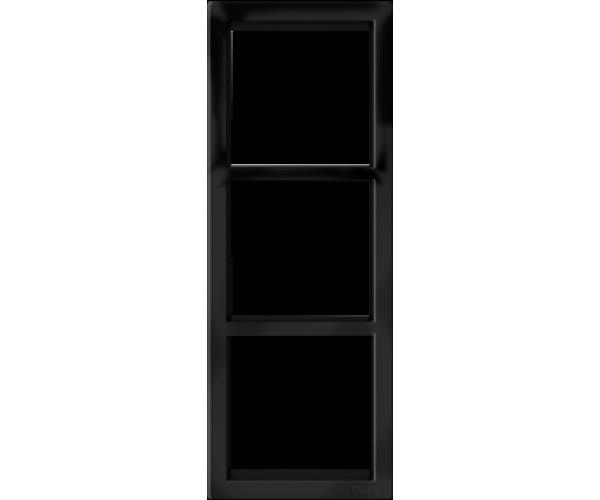 """Трехпостовая вертикальная рамка черная матовая CGSS """"Практика"""""""