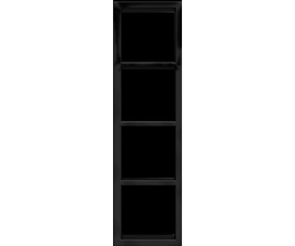 """Четырех постовая вертикальная рамка черная матовая CGSS """"Практика"""""""