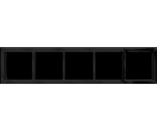 """Пятипостовая горизонтальная рамка черная матовая CGSS """"Практика"""""""