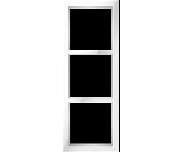 """Трехпостовая вертикальная рамка белая CGSS """"Практика"""""""