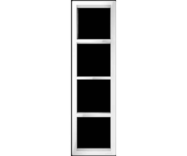 """Четырехпостовая вертикальная рамка белая CGSS """"Практика"""""""