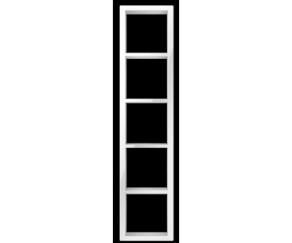 """Пятипостовая рамка вертикальная белая CGSS """"Практика"""""""
