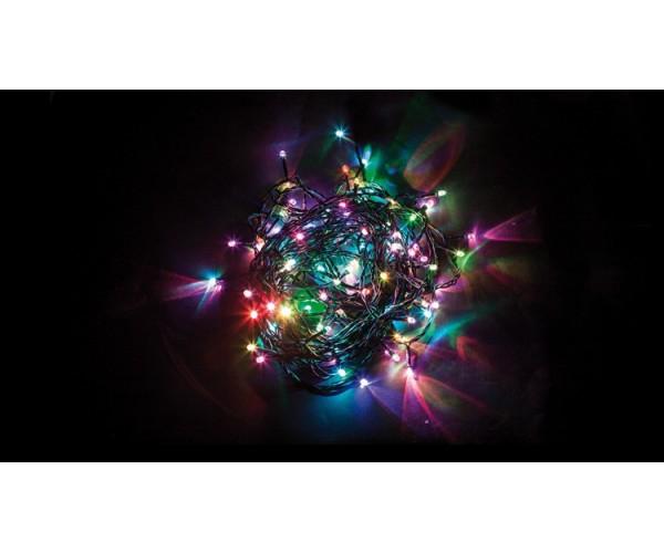 Светодиодная гирлянда линейная 20м 230V многоцветная (RGB) CL06