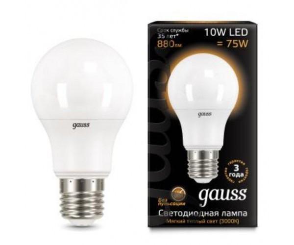 Лампа светодиодная  груша матовая  E27 10W 3000K