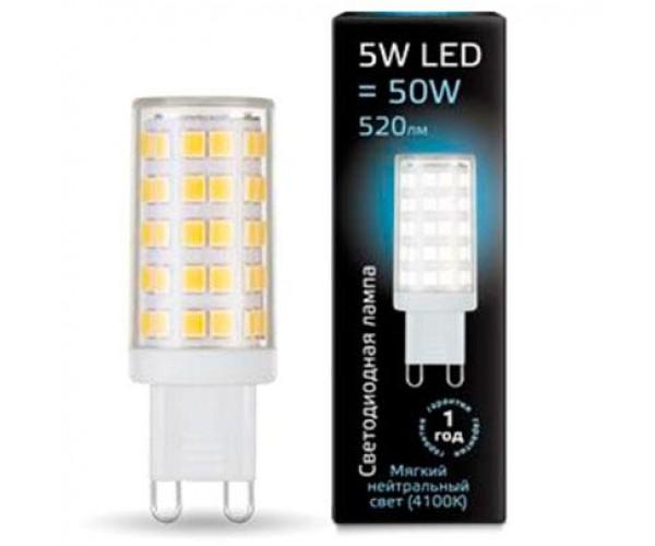 Лампа светодиодная GAUSS G9 5W 4100К