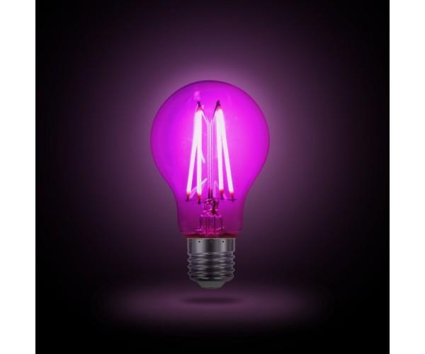 Лампа светодиодная для растений LED FITO FILAMENT A60 6W E27