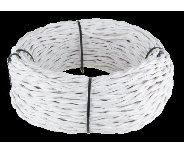 Ретро кабель витой 2х1,5 (белый)