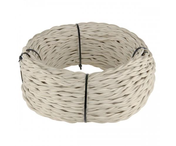 Ретро кабель витой 2х1,5 (песочный)