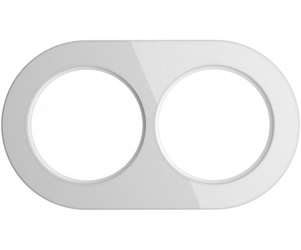 Рамка на 2 поста (Белый) WL21-frame-02