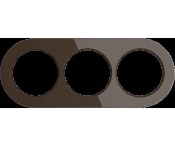 Рамка на 3 поста (Коричневый) WL21-frame-03