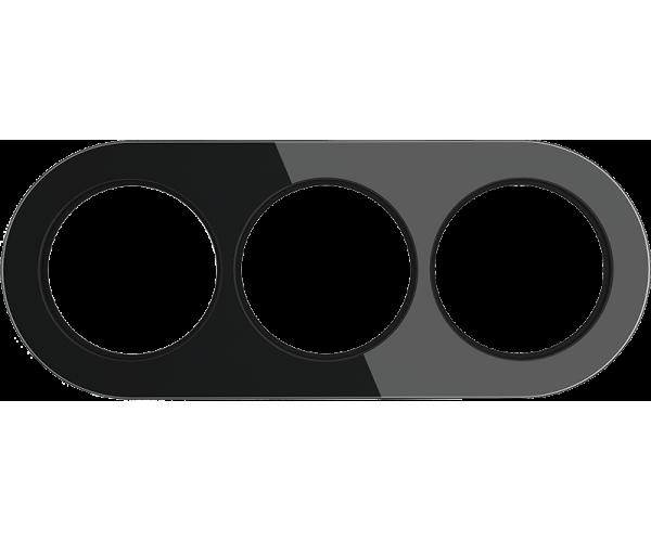 Рамка на 2 поста (Черный) WL21-frame-02