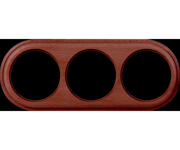 Рамка на 3 поста (итальянский орех) WL15-frame-03