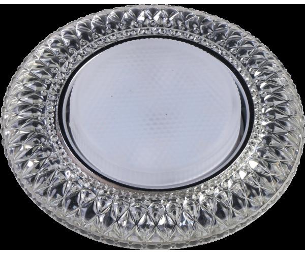 Светильникподсветкой прозрачныйметал + зеркальный прозрачный FT 9153 CHWH