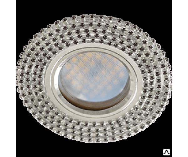 Светильник точечный  стекло с прозрачными стразами DL166