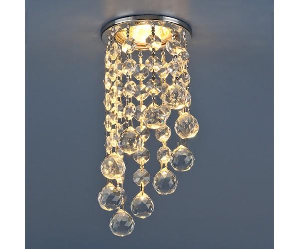 Светильник точечный с хрусталем хром/прозрачный 205C