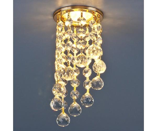 Светильник точечный с хрусталем   золото/прозрачный 205C