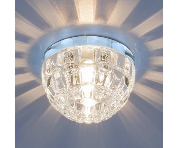 Точечный светильник с LED подсветкой 7246 G9 хром/прозрачный