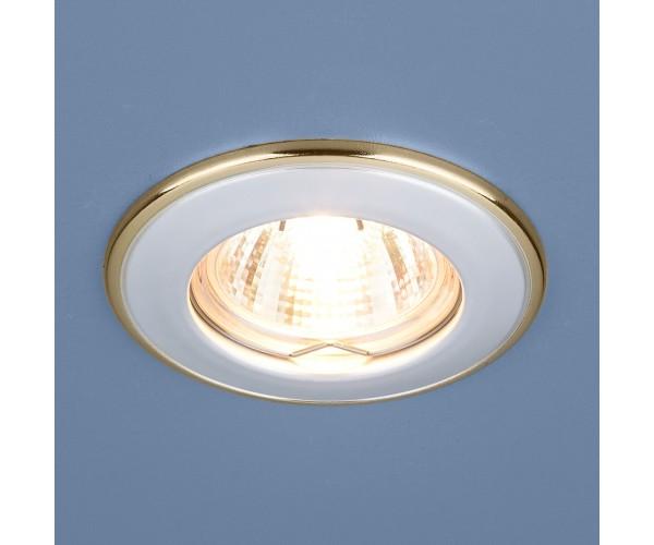 Светильник точечный 7002 белый/золото