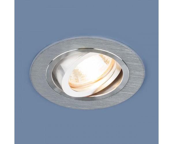 Светильник поворотный точечный алюминиевый 1061/1 MR16 SL серебро