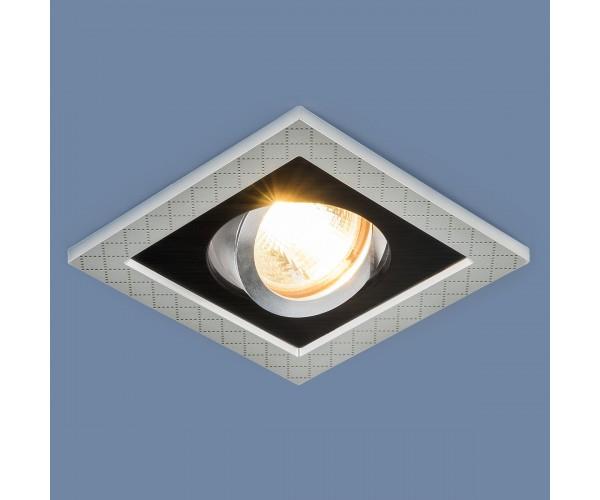 Светильник поворотный точечный 1041/1 MR16 SL/BK серебро/черный