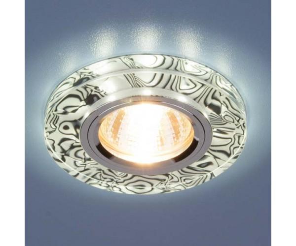 Светильник со светодиодной подсветкой 8371 MR16 WH/BK белый/черный