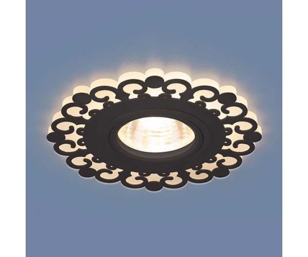 Светильник со светодиодной подсветкой  2196 MR16 BK черный