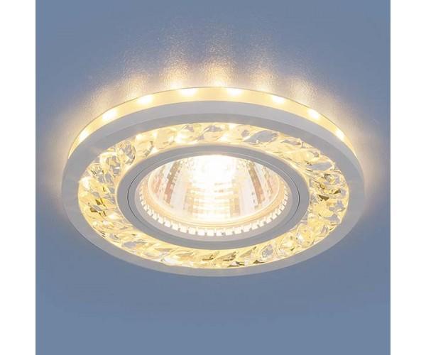 Светильник со светодиодной подсветкой  8355 MR16 CL/WH