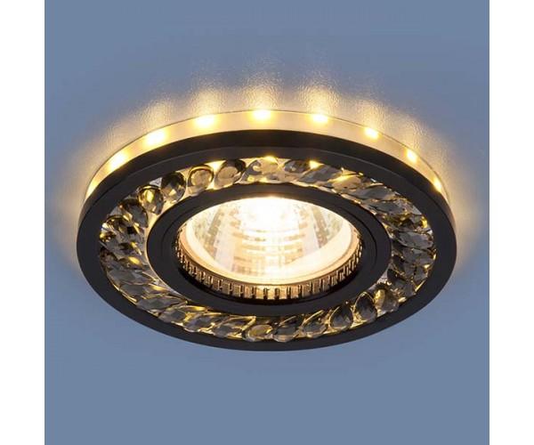 Светильник со светодиодной подсветкой  8355 MR16 GC/BK тонированный/черный