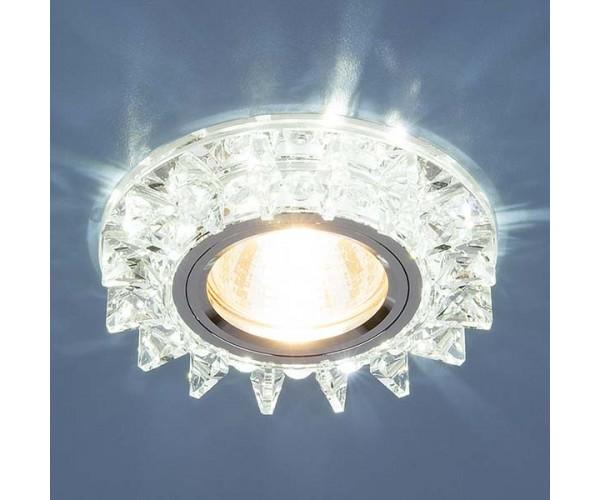Светильник со светодиодной подсветкой 6037 MR16 SL зеркальный/серебро