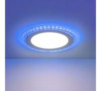 Встраиваемый потолочный светодиодный светильник  DLR024 10W 4200K Blue