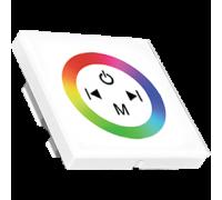 Контроллер Ecola RGB Controller 12A 144W 12V (288W 24V) настенный белый с кольцевым сенсором