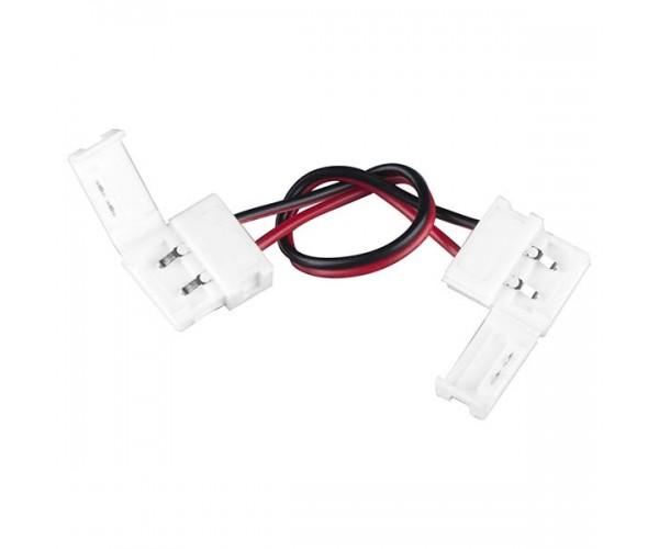 Коннектор для одноцветной светодиодной ленты 5050 гибкий двухсторонний