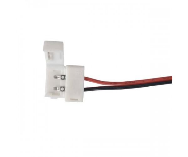 Коннектор для одноцветной светодиодной ленты 5050 гибкий односторонний
