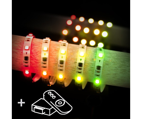 Комплект светодиодной ленты Led Strip 5050 5m 12V 30Led 7,2 W RW IP20 Бегущая волна