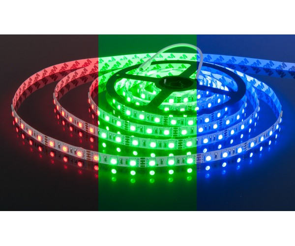 Светодиодная лента 5050 12V 60Led 14,4W IP20 RGB
