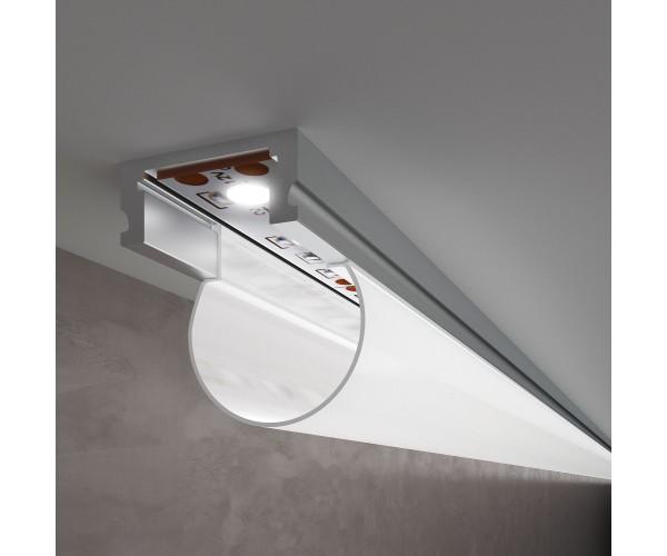 Накладной алюминиевый профиль для светодиодной ленты LL-2-ALP010
