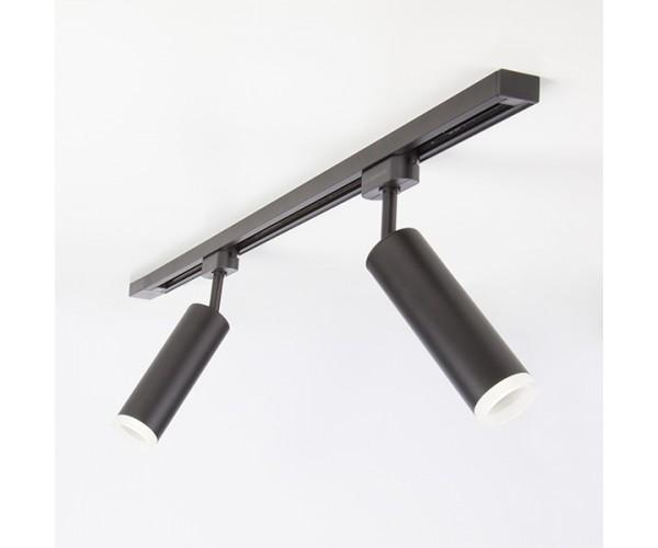 Трековый светодиодный светильник для однофазного шинопровода Oskar Черный 10W 4200K