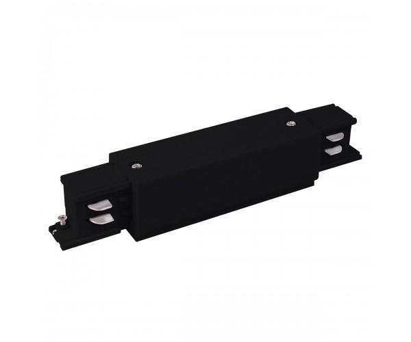 Коннектор прямой для трехфазного шинопровода черный