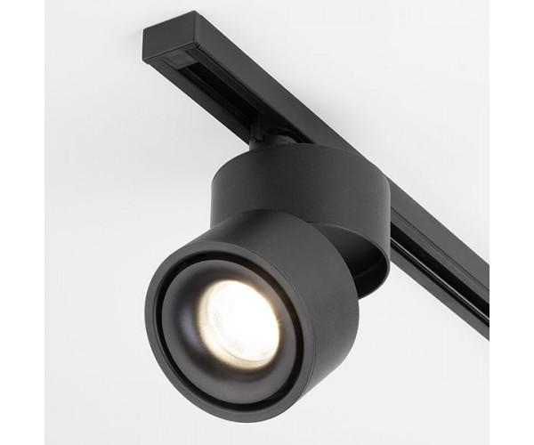 Трековый светодиодный светильник для однофазного шинопровода Klips Черный 15W 4200K