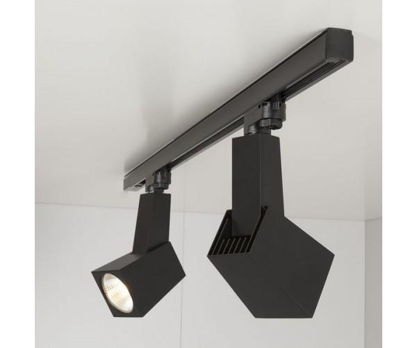 Трековый светодиодный светильник для трехфазного шинопровода Perfect Черный 38W 3300K