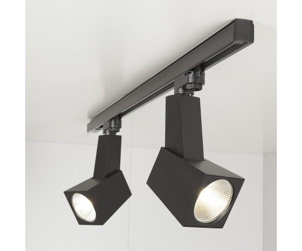 Трековый светодиодный светильник для трехфазного шинопровода Perfect Черный 38W 4200K