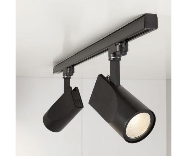 Трековый светодиодный светильник для трехфазного шинопровода Vista Черный 32W 3300K