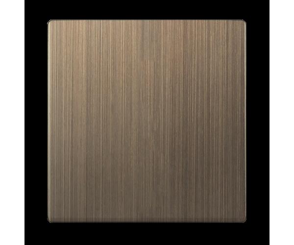 Клавиша для выключателя одноклавишного (бронзовый) WL12-SW-1G-CP