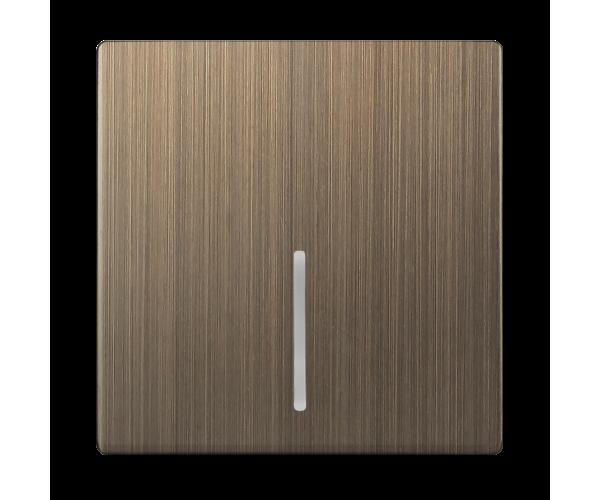 Клавиша для выключателя c подсветкой (бронзовый) WL12-SW-1G-LED-CP