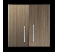 Набор клавиш для выключателя двухклавишного с подсветкой (бронзовый) WL12-SW-2G-LED-CP