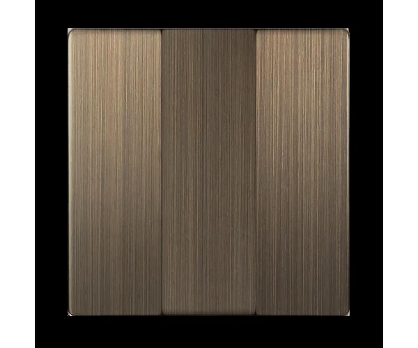 Набор клавиш для выключателя трехклавишного (бронзовый) WL12-SW-3G-CP