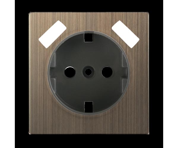 Накладка для USB розетки (бронзовый)  WL12-USB-CP